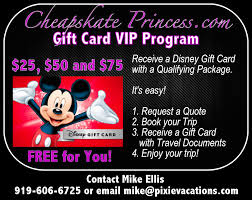 we ve teamed up with mike ellis from pixie vacations for our new vip gift card promotion not only are mike s travel planning services 100 free to you