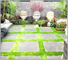 patio pavers with grass in between. How To Lay Patio Pavers Over Dirt Ideas With Grass In Between A