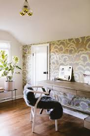 attic home office. Cassandra\u0027s Attic Home Office With Whimsical Wallpaper | Coco Kelley