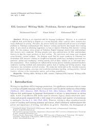 esl learners writing skills problems factors and suggestions esl learners writing skills problems factors and suggestions pdf available