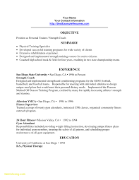 Personal Trainer Resume Templates New Sample Cover Letter For
