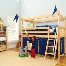 diy kids loft bed tent