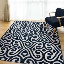 accessories captivating navy and white rug machine made weave rectangle shape geometric pattern polypropylene material charming