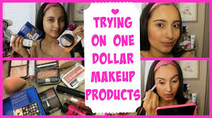 trying on one dollar makeup s first impressions demo you