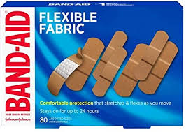 Band-Aid <b>Flexible</b> Fabric <b>Adhesive Bandages</b>, Assorted Sizes Value ...