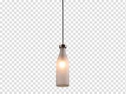 black and white bottle pendant lamp