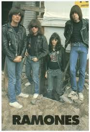 ramones leather jackets framed mini poster