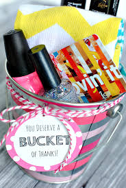 cute and creative thank you gift ideas you deserve a bucket of thanks great