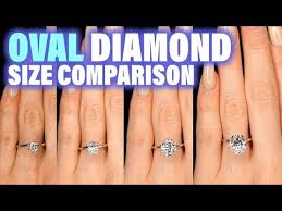 Engagement Ring Carat Size Chart Oval Shaped Diamond Size Comparison On Hand Finger