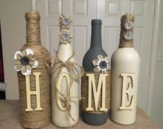 Home Decor With Wine Bottles Home wine bottle set Home decor Rustic decor Table decor 2
