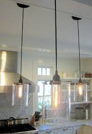 Hanging Kitchen Lights Lighting Unique 3 Kitchen Pendant Lighting Fixture With Glass