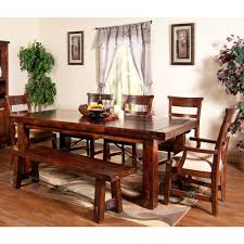 rectangle kitchen table set. Vineyard Wood Rectangular Dining Table \u0026 Chairs In Rustic Mahogany Rectangle Kitchen Set C
