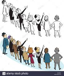 interesting person clipart. a crowd of people point and look up at something interesting. interesting person clipart