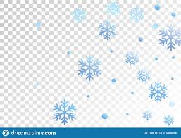 Winter Snowflakes And Circles Border Vector Illustration