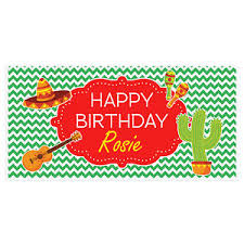 custom happy birthday banner mexican celebration birthday banner custom party backdrop ebay