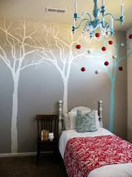 interior, Chic Chandelier Hung Above Mini Bed At Contemporary Kids Bedroom  On Brown Flooring Combined
