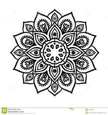 мандала линии контура эскиз татуировки иллюстрация штока