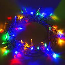 Christmas Light Amazoncom Solar Led 50 Light String Multicolor Home Kitchen