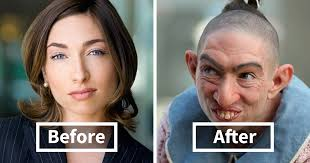 40 incredible pics of actors before and after applying makeup bored panda