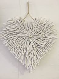 large wooden heart wall decoration