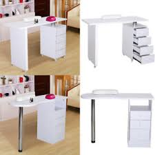 image is loading white manicure nail table station desk spa beauty