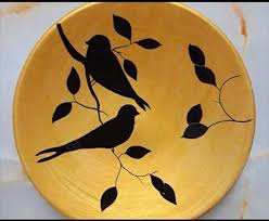 Ceramic wall art ceramic birds ceramic animals ceramic decor ceramic flowers animal sculptures wall sculptures sculpture art ceramic these modern swallow silhouettes, handmade from porcelain, will add clean, modern style to your wall art. نقاشی روی بشفاب Painting Art Projects Nature Art Painting Canvas Art Painting