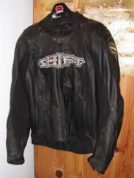 shift diablo leather motorcycle street bike jacket black men s medium pre owned