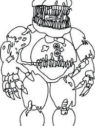 Coloring Pages Fnaf Coloring Games Nightmare Pages Colouring X