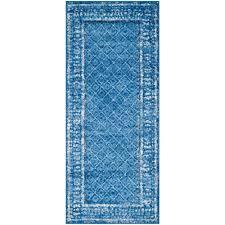 safavieh adirondack light blue dark blue 3 ft x 6 ft runner rug
