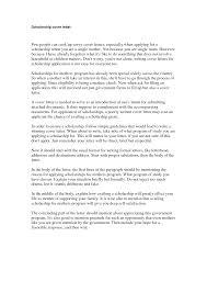 scholarship cover letter letters sample letters scholarship cover letter format example