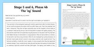 Includes differentiated support and independent sheets. Oy Sound Worksheet Ni Phase 4b Phonics Teacher Made