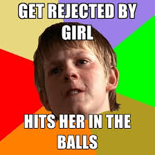 Get Rejected By Girl Hits Her In The ***** ● Create Meme via Relatably.com