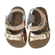 Salt Water Baby Sandals Sun San Sea Wee Rose Gold Afterpay