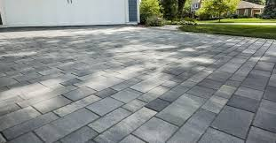 beveled edge pavers for easy snow clearing in islip ny