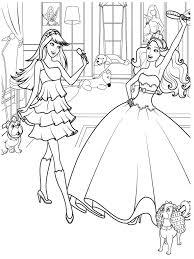 Coloriage Barbie Princesse Gratuit Ancenscp
