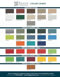 Color Chart Janus International Group