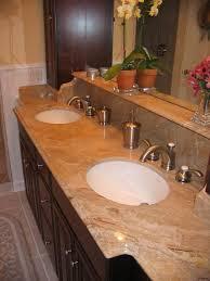 architecture granite countertops bathroom contemporary allen roth desert gold undermount single sink for