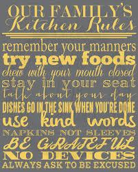 family kitchen rules art print on wall art kitchen rules with family kitchen rules custom personalized keepsake wall art by the