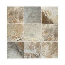 american olean kendal slate 8 pack easdale neutral porcelain floor and wall tile common