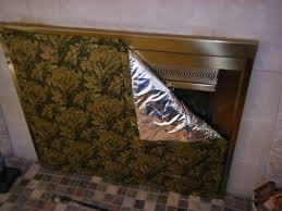 fireplace draft cover home depot