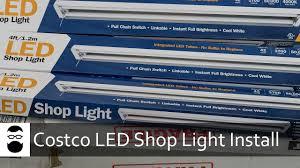 Feit 4 Linkable Led Shop Light Costco Led Shop Light Install