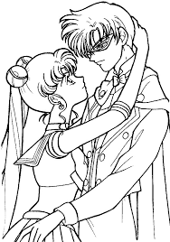 Small Picture Sailor Moon and Endymion Coloring Page by Sailortwilight on DeviantArt