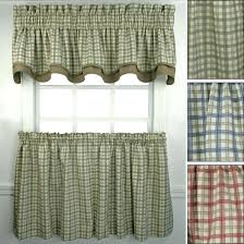 kitchen curtains red gingham valances check