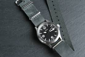 grey leather nato 22mm