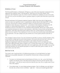 Personal Statement Grad School Samples 15 Grad School Personal Statement Example Resume Cover
