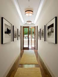 ... smart way to make hallways seem wider by using carpets