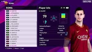 AS Roma Players Faces & Ratings PES 2020 - YouTube