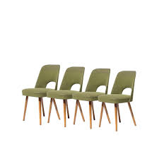 midcentury czech green dining chairs s set of  for sale at