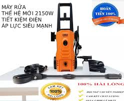 máy rửa xe áp lực cao - Máy rửa xe mini - Máy rửa xe gia đình- 2150W - cảm  ứng từ - lõi đồng ( bảo hành 3 năm 1 đổi 1