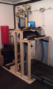 diy treadmill desk and put a sd bag above it too